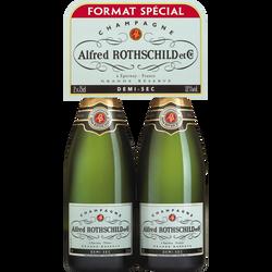 Champagne demi-sec ALFRED ROTHSCHILD & Cie, 2x75cl