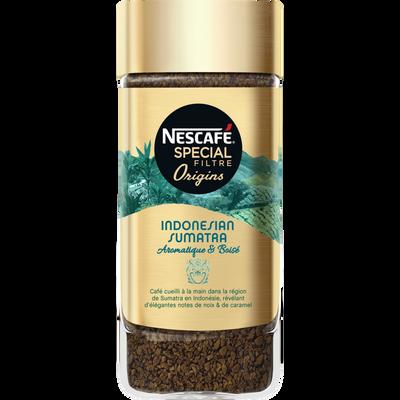 Café soluble spécial filtre origins Sumatra NESCAFE, 95g