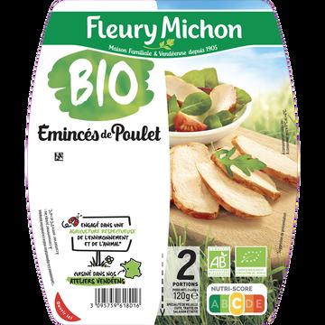 Fleury Michon Emincés De Poulet Bio -25% De Sel Fleury Michon 2x60g 120g