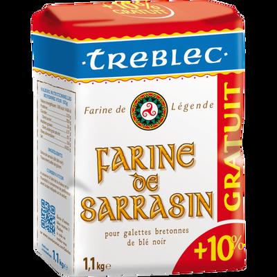 Farine blé noir TREBLEC, 1kg +10% offert
