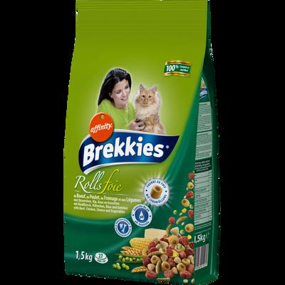 Croquettes pour chat Rolls au foie BREKKIES Excel, 1,5kg