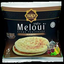 Melouï crêpes feuilletées nature halal BLADI, 5 pièces, 400g