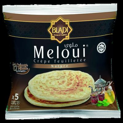 Melouï crêpes feuilletées nature halal BLADI, 5 pièces soit 400g