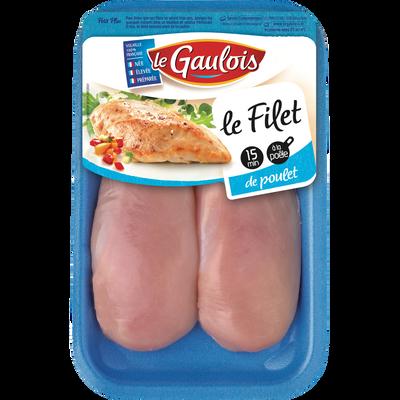 Filet de poulet blanc, LE GAULOIS, France, 2 pièces, 280g