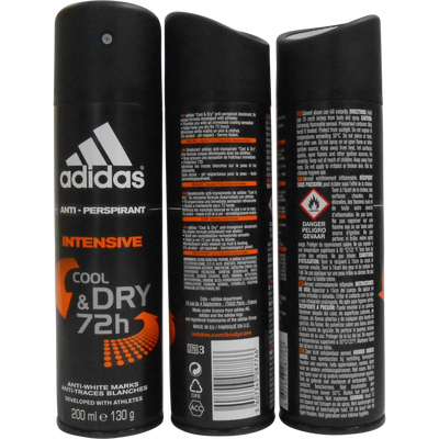 Déodorant pour homme Intensive Cool & Dry Male ADIDAS MEN, atomiseur de 200ml