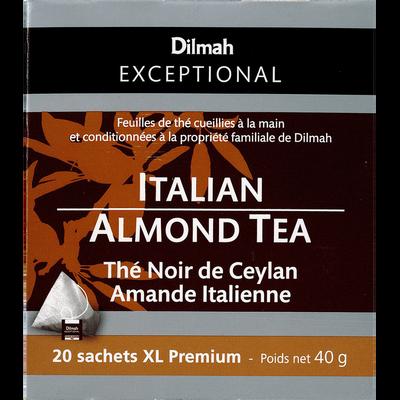 Thé noir de Ceylan amande italienne DILMAH, sachet de 40g