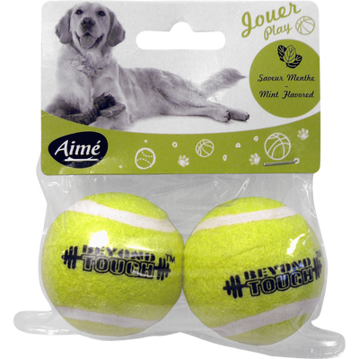 Jouet balle tennis menthe, 5cm, AIME