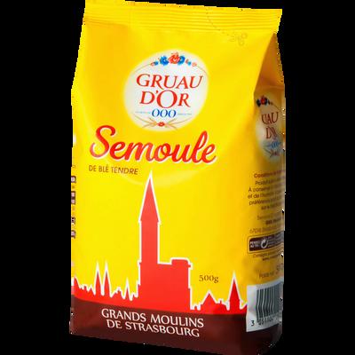 Semoule de blé tendre GRUAU D'OR, paquet de 500g