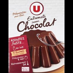 Les entremets préparation pour flan chocolat U, 4 doses, 344g