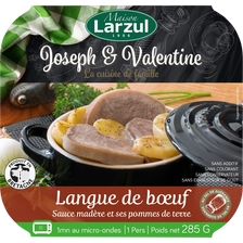 Langue boeuf sauce madère/pomme de terre LARZUL, barquette micro ondesde 285g