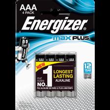 Piles ENERGIZER, MAX PLUS LR03, 4 unités