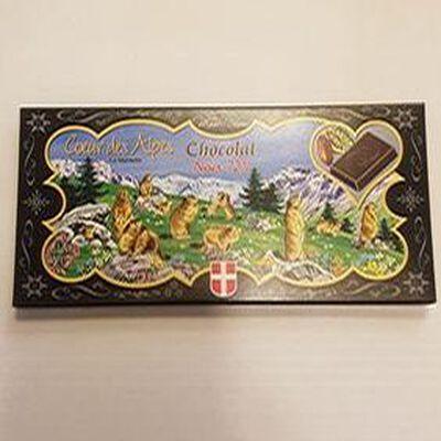 Chocolat Noir 72 % , C?ur des Alpes, La Marmotte.