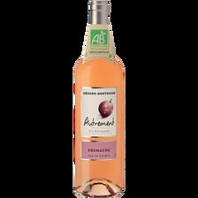 Vin rosé Pays d'Oc bio IGP Grenache AUTREMENT, bouteille de 75cl