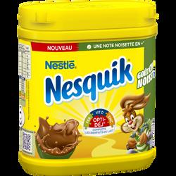 Nesquik goût choco noisettes, NESTLE, boîte, 490g