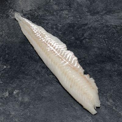 Filet de merlan sans flanc, Merlangius merlangus, calibre 80g/+, pêchéen Atlantique Nord-Est
