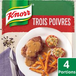Sauce déshydratée aux 3 poivres KNORR, 30g, 20cl