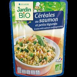 Céréales saumon/petits légumes bio JARDIN BIO 220g