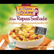 Mes repas salade conchiglies légumes et poulet rôti CUISINE D'OCEANE,280g