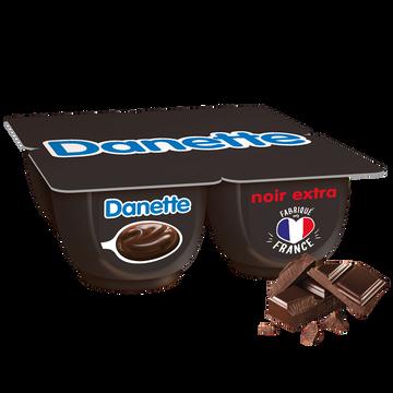 Danone Crème Dessert Chocolat Noir Extra Danette, 4x125g