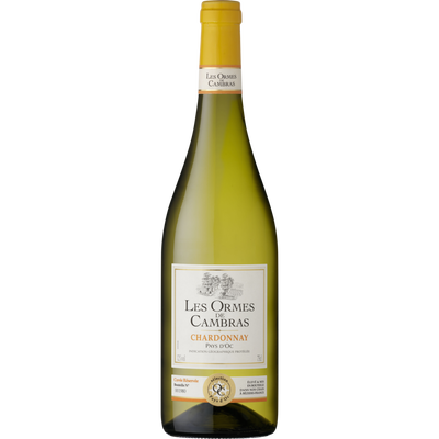 Vin blanc IGP Pays d'OC Chardonnay LES ORMES DE CAMBRAS, bouteille de75cl