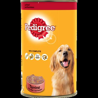 Aliment pour chien Terrine au boeuf PEDIGREE, 1,250k