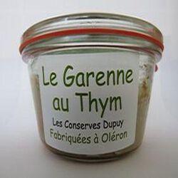 Le garenne au thym, Fabriqué à Oléron, 180gr, bocal, les Conserves Dupuy