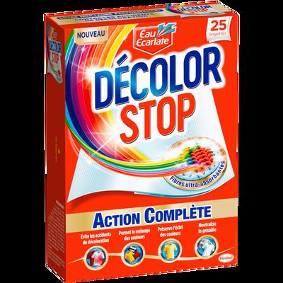 Lingettes Décolor Stop 6 protections EAU ECARLATE, x25