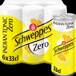 SCHWEPPES, Indian tonic zéro slim can 6x33cl