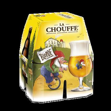 Brasserie d'Achouffe Bière Blonde La Chouffe 8° Pack 4x33cl