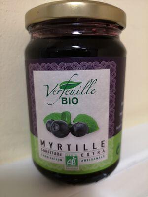 VERFEUILLE CONFITURE DE MYRTILLE BIO 360G