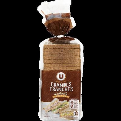 Pain de mie sandwich complet U, 825g - Super U, Hyper U, U Express