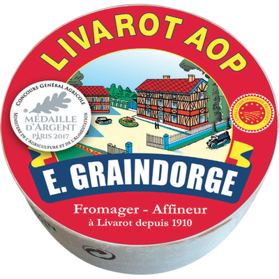 Petit Livarot AOP au lait pasteurisé 22% de matière grasse GRAINDORGEET FILS, 250g
