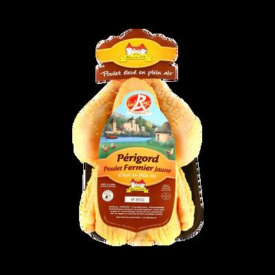 Poulet fermier jaune du Périgord, prêt à cuire, LABEL ROUGE, France, 1pièce