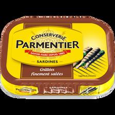 Sardines grillées nature PARMENTIER, 100g