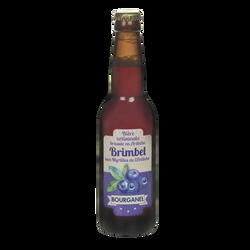 Bière Brimbel aux myrtilles d'Ardèche BOURGANEL 5°, bouteille de 33cl