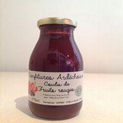 Confitures ardéchoises - Coulis de fruits rouges