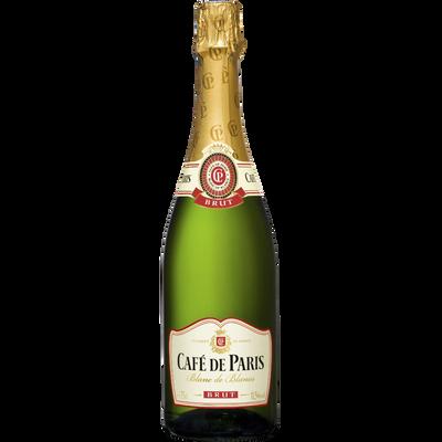 Vin mousseux blanc de blancs brut CAFÉ DE PARIS, 75cl