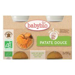 Pot Patate douce BABYBIO dès 4 mois 2x130g