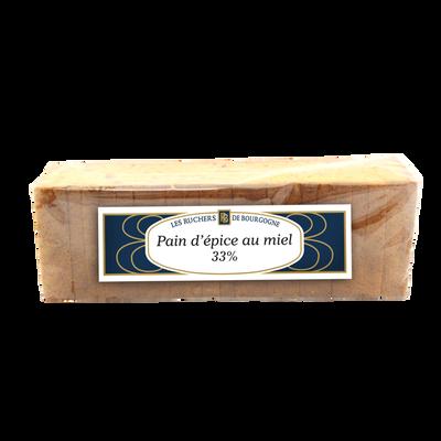 Pain d'épices au miel 33% tranché RUCHERS BOURGOGNE, 300g