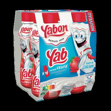 Yabon Lait Fermenté Aromatisé Fraise Yabon 4x20cl