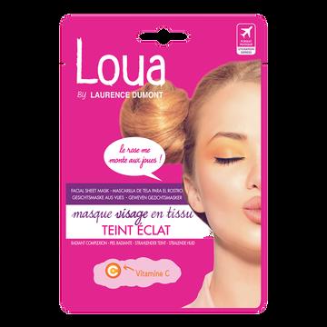 Idéal Masque Visage En Tissu Teint Éclat Loua, X1