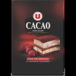 Cacao en poudre 100% U, boîte de 200g