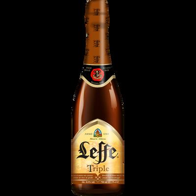 Bière brune triple ABBAYE DE LEFFE, 8,5°, bouteille de 75cl