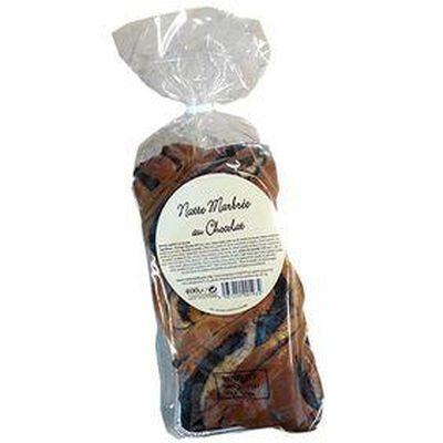 Brioche Tressée Marbrée au Chocolat 400g
