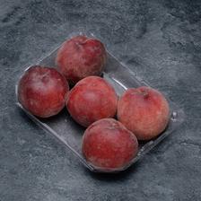 Pêche blanche, BIO, calibre C, catégorie 2, France, barquette 5 fruits