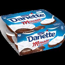 Dessert lacté au chocolat mousse liégeoise DANETTE, 8x80g