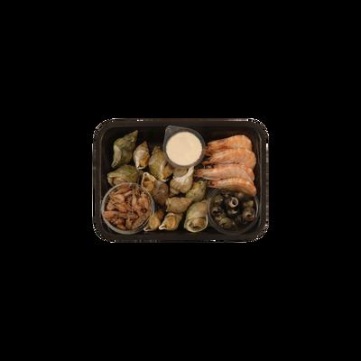 Assiette de la mer, transformée en France, barquette de 550g