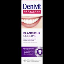 Dentifrice crème blancheur & éclat DENIVIT, tube de 50ml