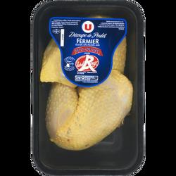 Cuisse de poulet fermier du Sud Ouest, U, France, 2 pièces