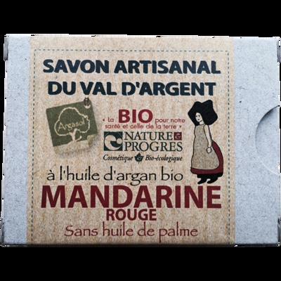 Savon artisanal mandarine rouge BIO ARGASOL, 140g